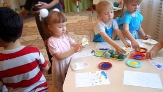 Открытый урок в садике (осень 2012г., 3 годика)