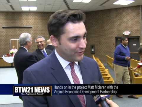 Matt Mclaren hands on in the project with Virginia Economic Development Partnership