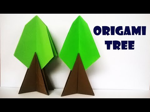 How to make a paper tree | Origami tree instruction