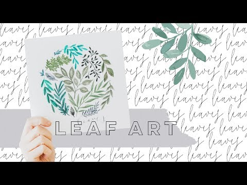 Watercolor Pencils for Beginners: Leaf Art