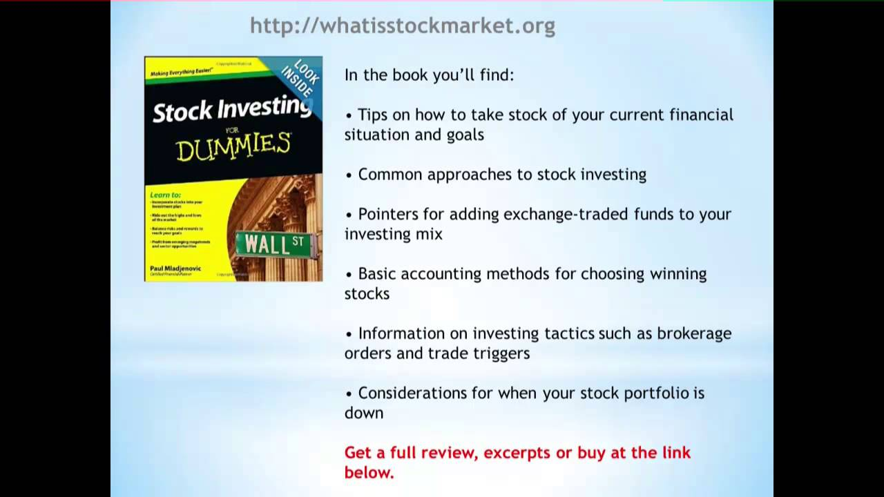 how to read the stock market for dummies