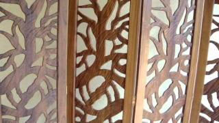 Cnc Router Wood Carving-partition Screen-kerala-india-feather Cam Woods