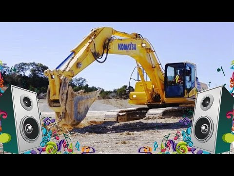 Excavator Song For Kids -  Diggers Construction Vehicles Music Video for Children