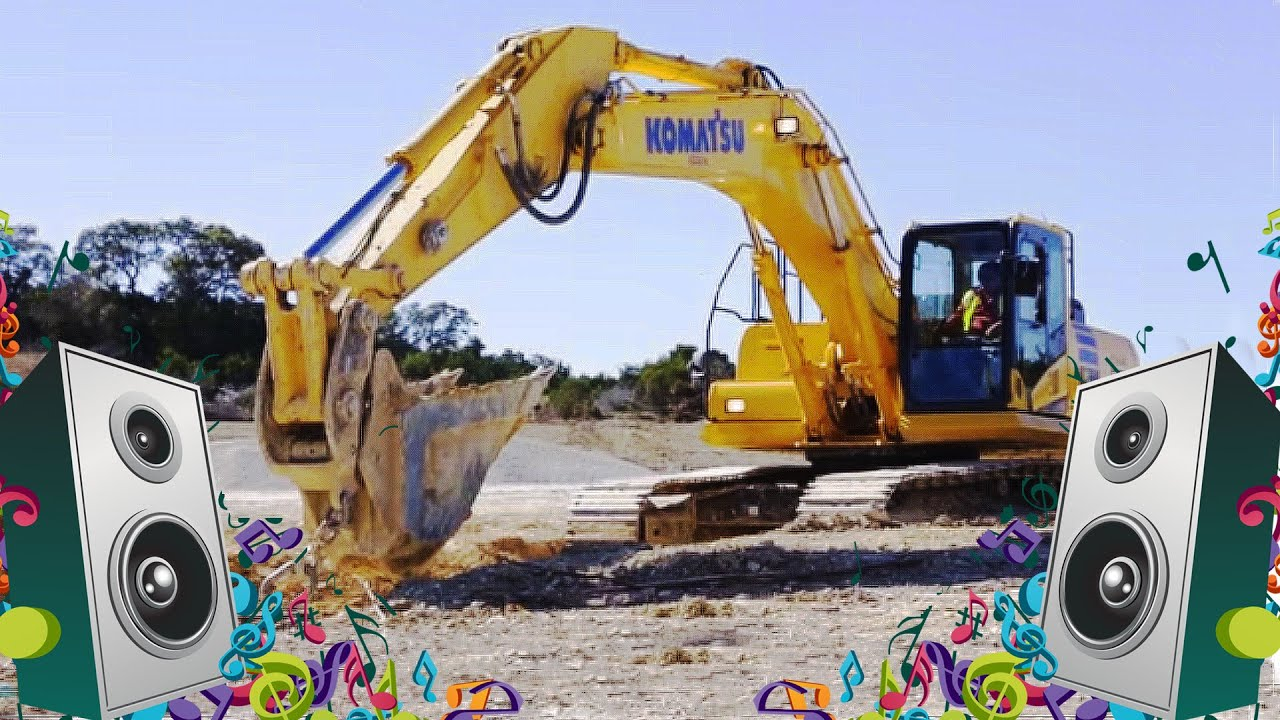 excavator song kids truck music video youtube