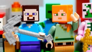 【LEGO遊び】レゴマインクラフトの世界にワープ!?色々な素材を集めに行こう!【アナケナ&カルちゃん】Minecraft 21141 21139 thumbnail