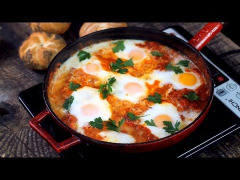 Shakshuka Eggs in Tomato Sauce Recipe