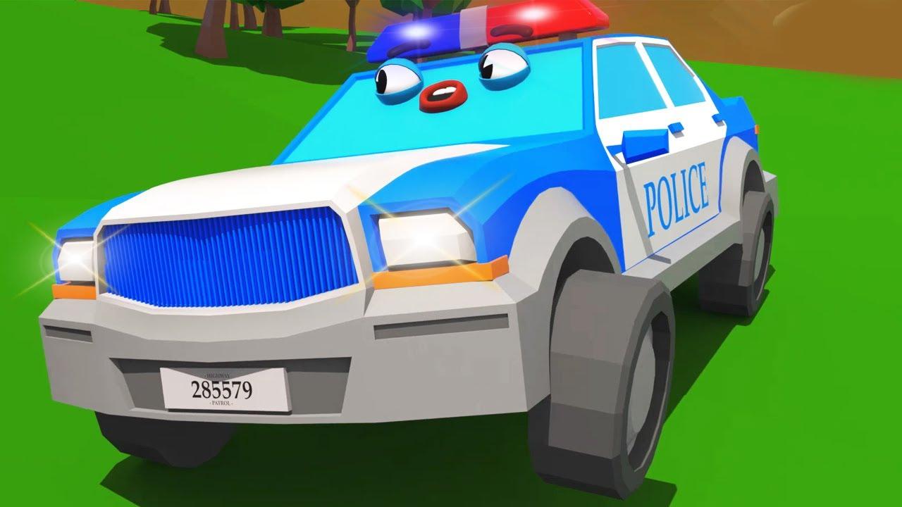 Çizgi filmi - Polis arabası ve Sevimli Dostlar - Akıllı arabalar