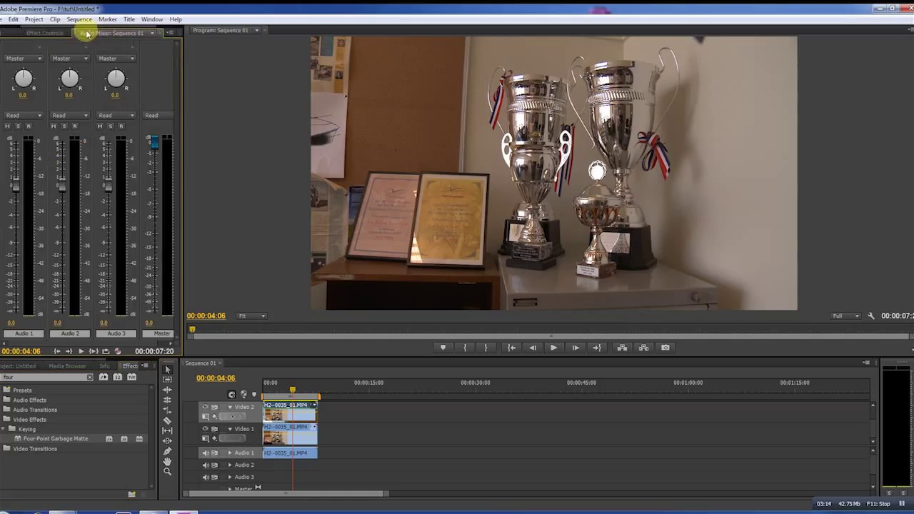 how to cut out objects in adobe premiere