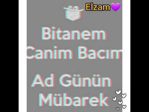 """-' Elza""""M canim Birdenem Ad gunun mubarek💜❤😙"""