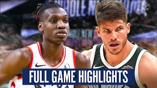 TORONTO RAPTORS at MILWAUKEE BUCKS - FULL GAME HIGHLIGHTS | 2019-20 NBA Season