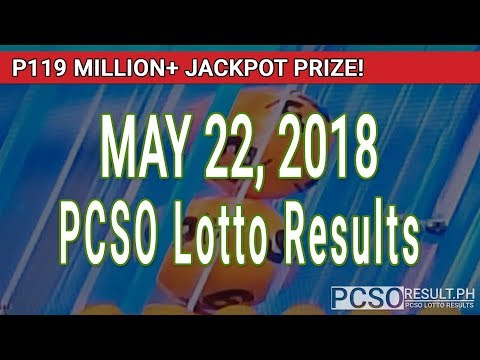 PCSO Lotto Results Today May 22, 2018 (6/58, 6/49, 6/42, 6D, Swertres, STL & EZ2)
