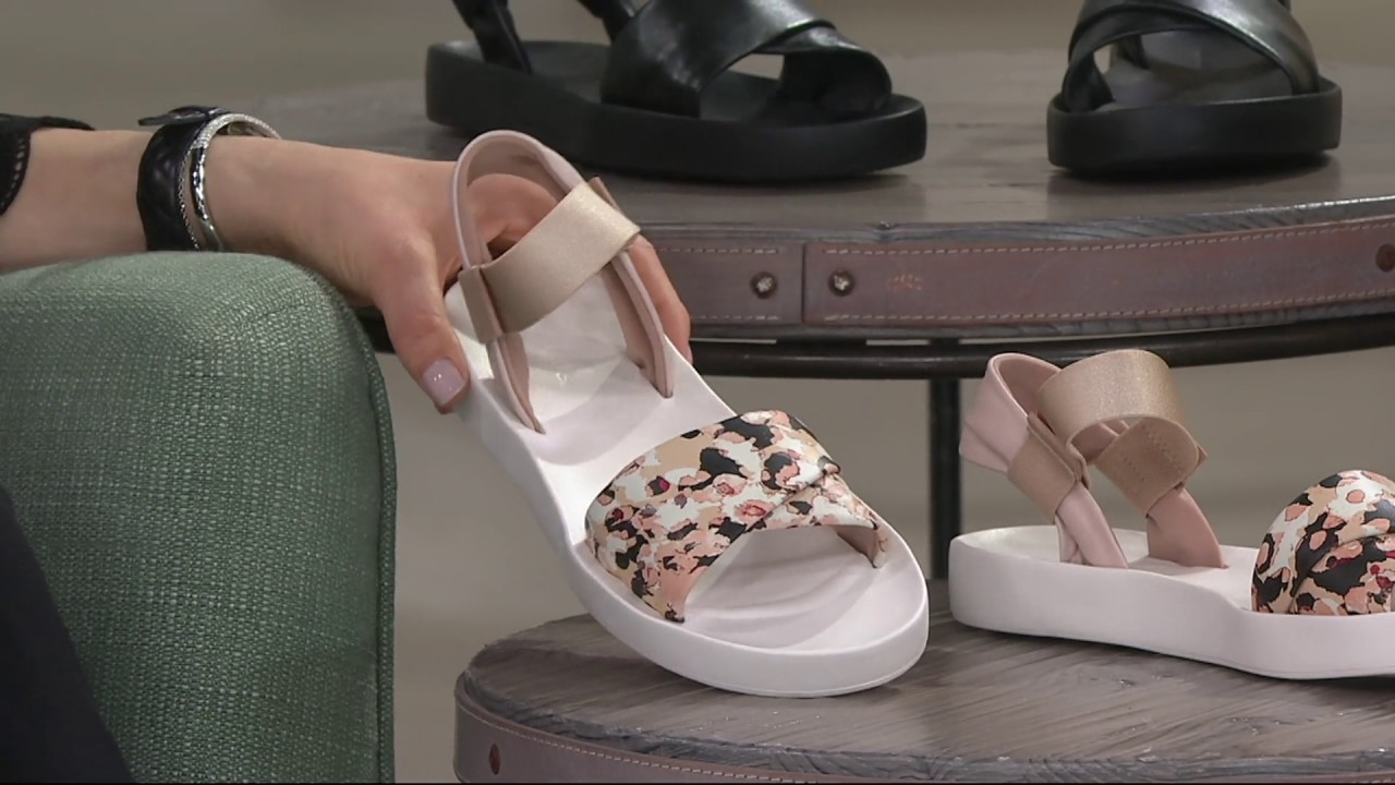 Clarks Active Leather Slip On Sandals Seanna Sun On Qvc