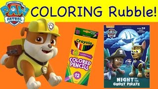 Coloring Pages RUBBLE Paw Patrol Coloring Book Night of The Ghost Pirate
