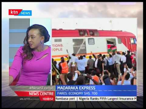 The Madaraka Express holds a capacity of 260 passengers at an average speed of 120KMPH