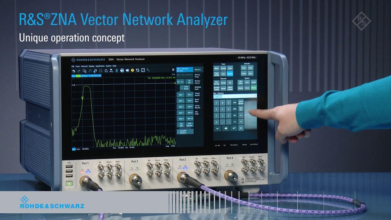R&S ZNA Vector Network Analyzer: Unique operation concept