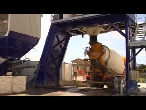 Stationary concrete plant SUMAB F-100