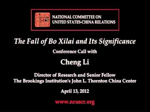 Cheng Li on the Fall of Bo Xilai