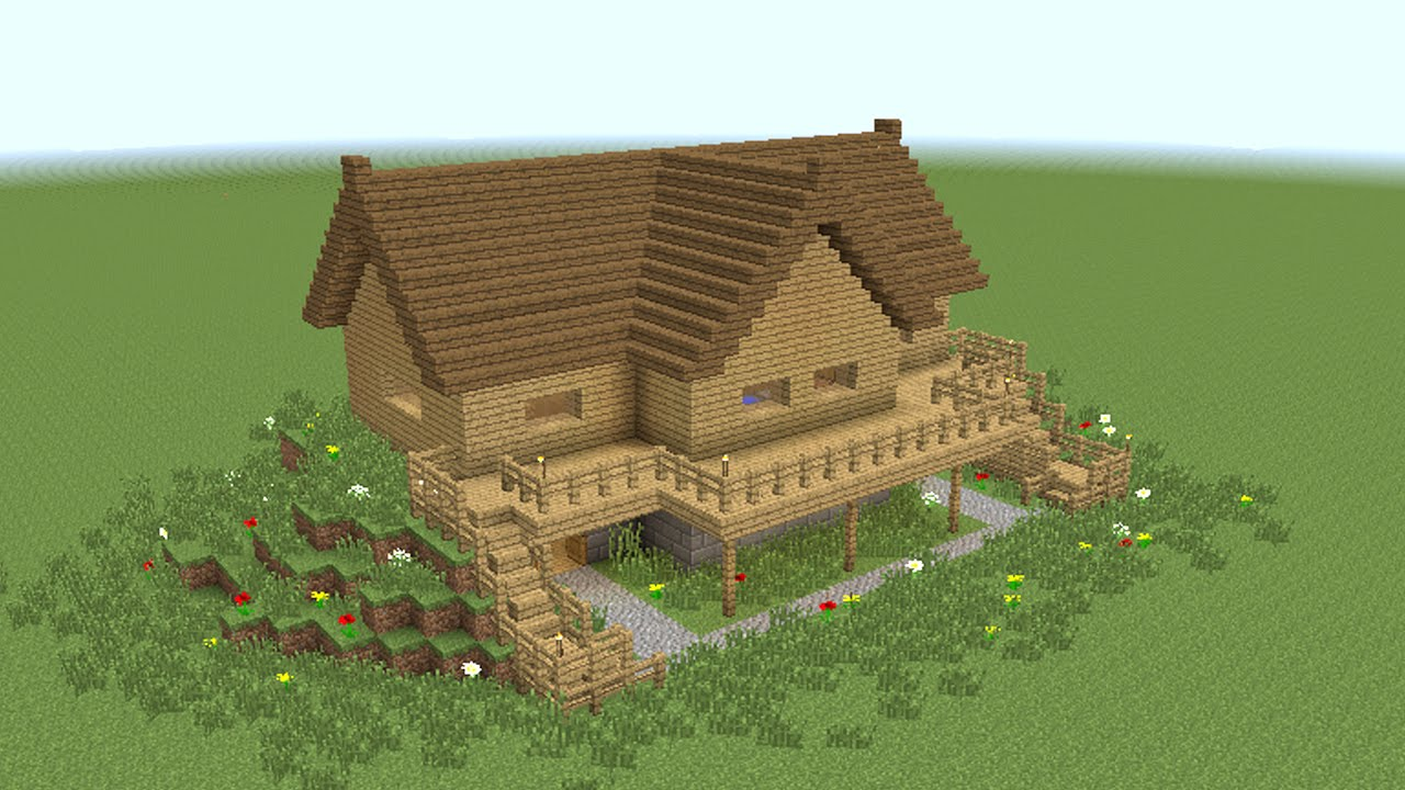 MINECRAFT How To Build Wooden Mansion YouTube