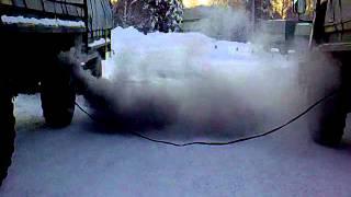 Sisu SA-150 cold start
