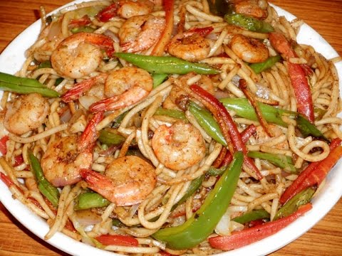 Prawn Noodles Non Veg Noodles Recipe Youtube