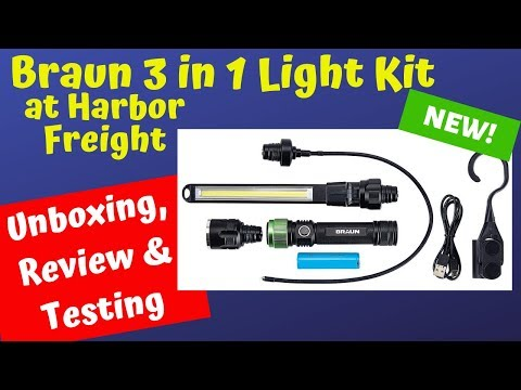 Harbor Freight Braun 3 In 1 Light Kit Review