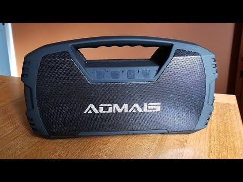 aomais go bluetooth speaker review youtube. Black Bedroom Furniture Sets. Home Design Ideas