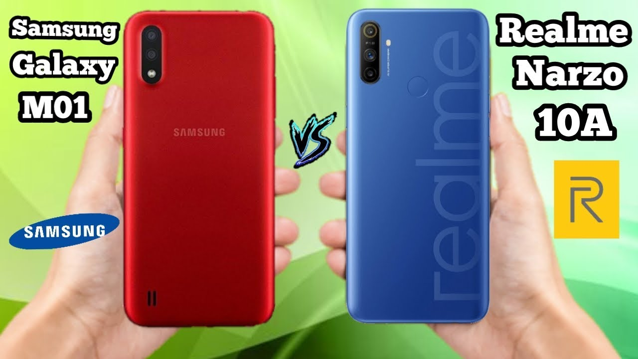 Samsung Galaxy M01 vs Realme Narzo 10A - OFFICIAL SPECIFICATIONS Comparison