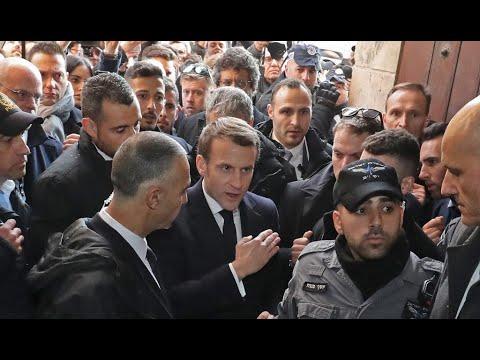 France's Macron Rebukes Israeli Officer In Altercation At Jerusalem Church