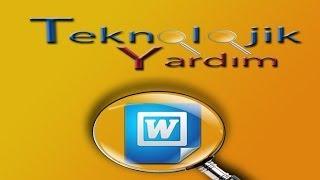 WORD EĞİTİM VİDEOLARI : Word Kapak Sayfası Ekleme, şekilli kapak sayfaları oluşturma