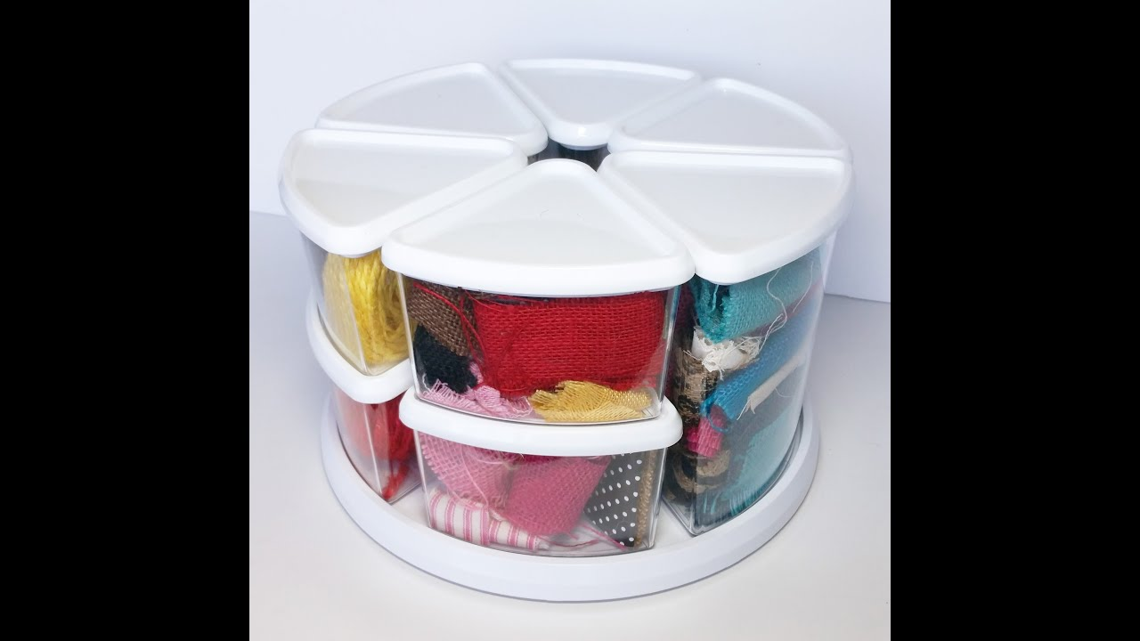 Craft Storage Ideas Rotating Storage Containers YouTube