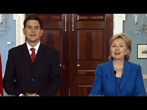 Secretary Clinton Meets With U.K. Foreign Minister David Mil