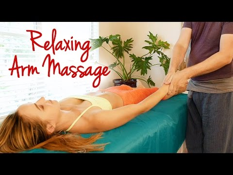 How to Massage the Arm, Wrist & Shoulder for Carpal Tunnel, Elbow Pain, Hands, Relaxing Tutorial