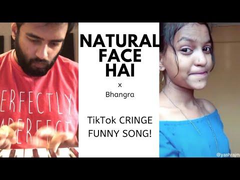 NATURAL FACE HAI x BHANGRA | Funny TikTok Cringe Song | Dialogue Song