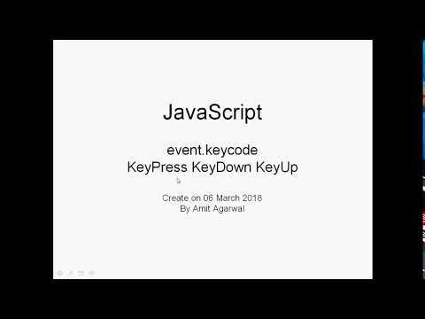 Javascript 031 KeyCode - YouTube