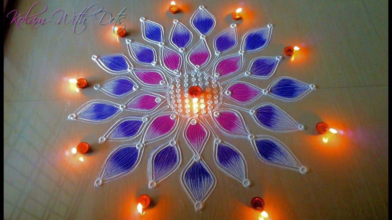 Beautiful Rangoli Designs With Colours For Festivals