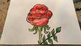 How To Draw a Flower | Çok Kolay bir Çiçek Çizimi