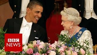 65 years, 1 Queen and 12 US presidents - BBC News