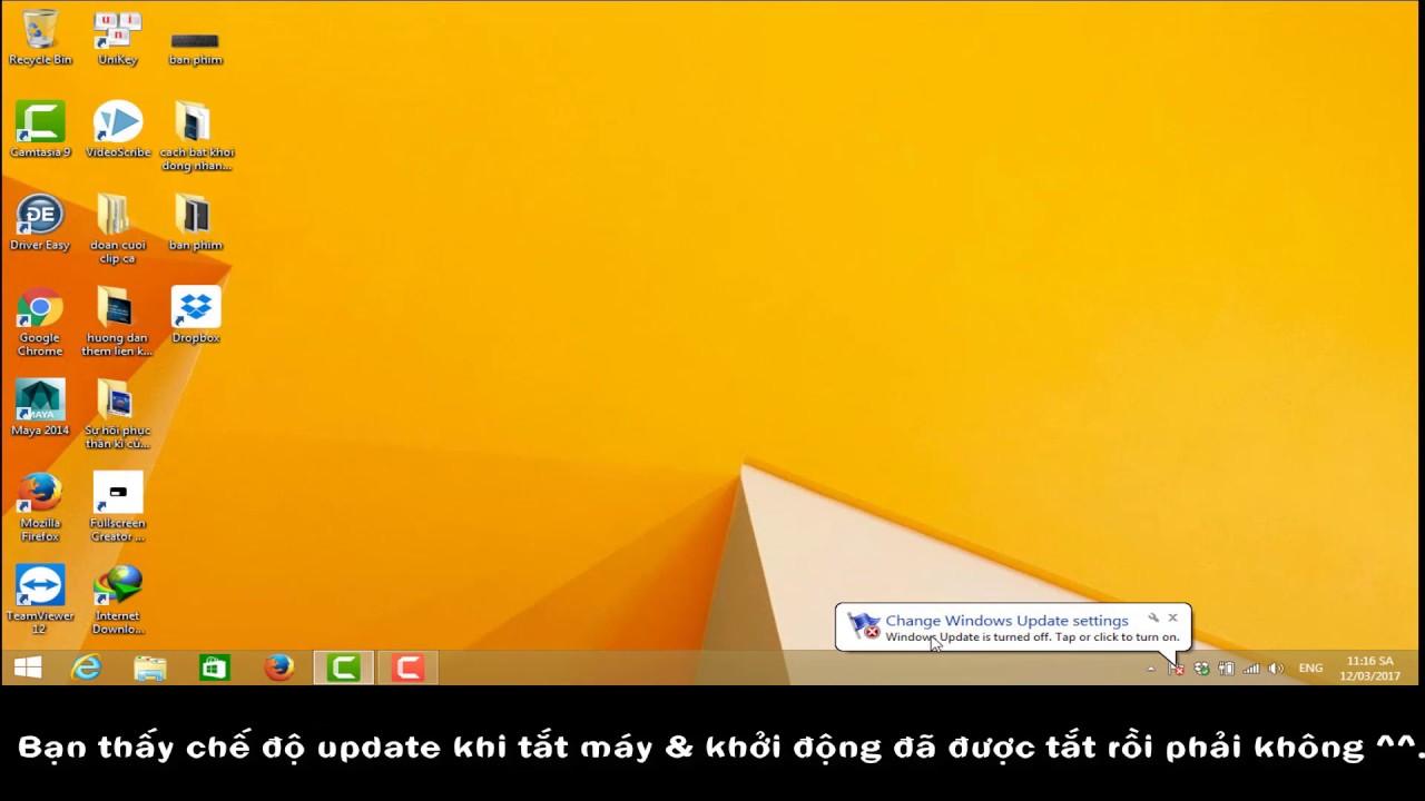 Tắt update Window gây chậm trễ khi khởi động và tắt máy – Win 8.1 ( có thể áp dụng HĐH WINDOW khác )