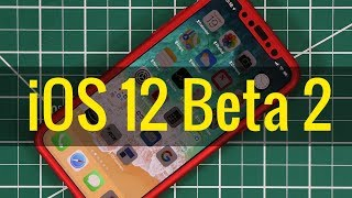 iOS 12 Beta 2 running on iPhone X - New Features & Updates!