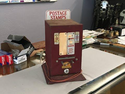Antique Postage Stamp Vending Machine