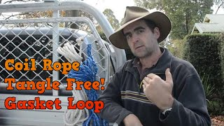 Coiling Rope Tangle Free With Gasket Loop