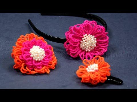 DIY Flower Crafts - Wool Flower Making Tutorial