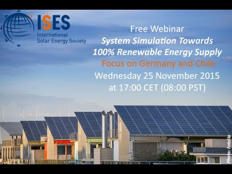 Webinar: System Simulation Towards 100 % Renewable Energy Supply