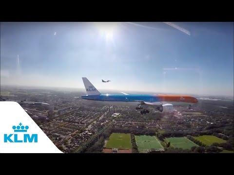 Unique footage of KLM's Orange Pride with F16