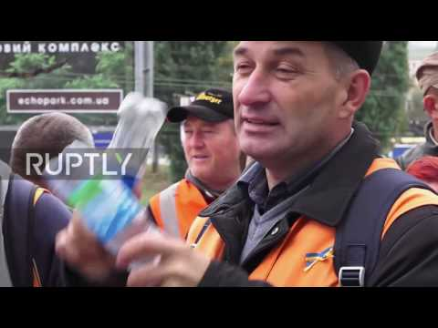 Ukraine: Railway workers hold Kiev protest for higher wages