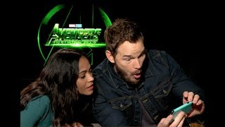 Chris Pratt and Zoe Saldana interview for AVENGERS INFINITY WAR (unedited)