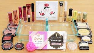 Rose vs Champagne - Mixing Makeup Eyeshadow Into Slime ASMR