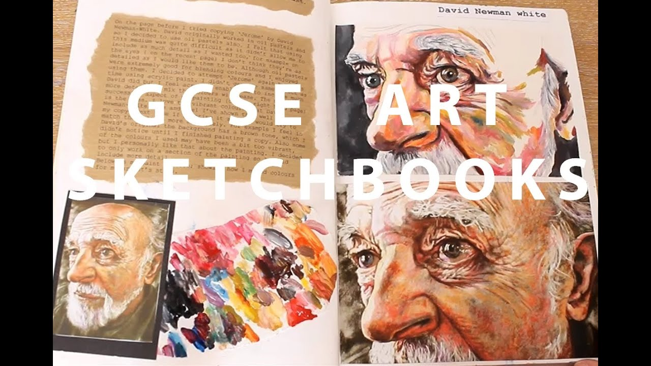 A Gcse Art Sketchbooks Youtube