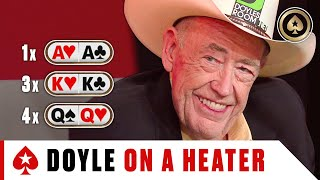 Doyle Brunson dealt KK-QQ-AA crazy amount of times ♠️Best of The Big Game ♠️ PokerStars