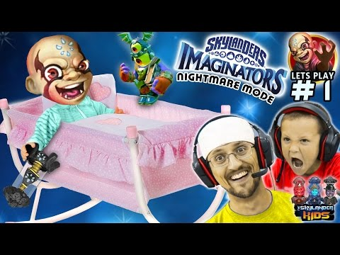 MASTER OF KISSING!?! Skylanders Imaginators Part 1 NIGHTMARE MODE! (CRADLE of CREATION FULL Level)